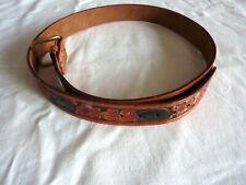 Vintage Western Hand Tooled Leather Belt Albert Name Engraved Size 44
