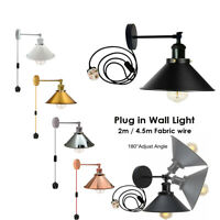 E27 Wall Light Porch Lamp Vintage Industrial Indoor Plug In Wall Light Sconce