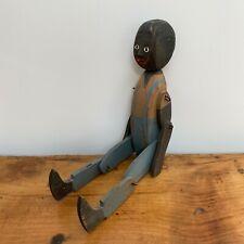 Primitive JIG DOLL / LIMBERJACK  Black Americana Jointed Figure , Folk Art, Wood
