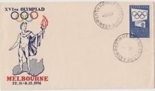Stamp Australia 2/- blue Olympic Games issue on Mitchell cachet FDC, unaddressed