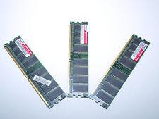 3 X Modulos de Memoria RAM 512 MB DDR 400 Mhz