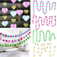 4M Love Heart Paper Garland Hanging Banner Bunting Wedding Birthday Decorations