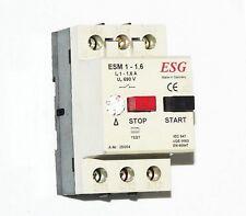 ESM 1-1,6 3 Pole Setable Motor protection Overload Circuit Breaker DIN Mount