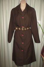 VINTAGE  60'S ~ MYER ~  Brown  COAT * Size 14 *