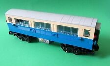 Lego Eisenbahn - Personenwagen, Wagon - blau / beige mit 9V Achsen