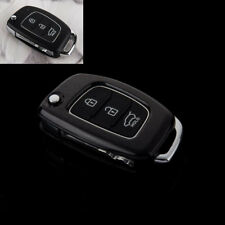 ABS PLASTIC PROTECTIVE CASE FOR 3 BUTTON KEY FLIP FOB HYUNDAI i10 i20 ix20 Blk