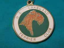Vintage U.S. Lakeland Terrier Club Gold Plated & Enamel Award Medallion Pendant