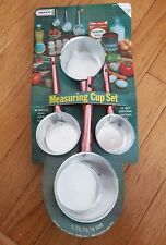 Vintage Nevco Aluminum Copper Measuring Cups NEW