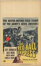 RED BALL EXPRESS original WW2 1952 movie poster JEFF CHANDLER/SIDNEY POITIER