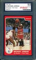 Michael Jordan PRO 9.8 1985 Star All Rookie First Team