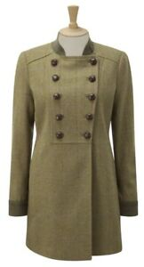 Caldene Rosedene Country Coat Military Tweed Sage Size 16