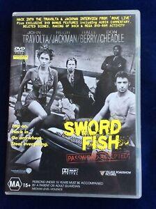 Swordfish - Region 4 DVD - Great Condition - John Travolta - FREE POST