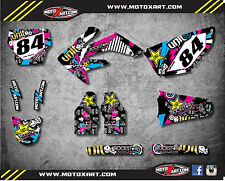 Honda CRF 250 - 2008 - 2009 Full Custom Graphic Kit RUSH Style sticker kit