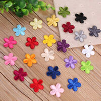 10Pcs Small Flower Patches Clothing Embroidery Iron On Applique Floral Badge