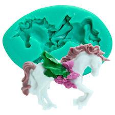 3D Horse Silicone Mould Cake Decor Sugarcraft Fondant Mold Soap Craft Kids Tool