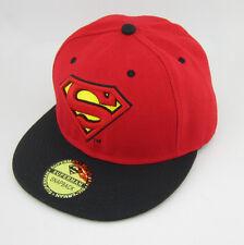 New DC Comics Adjustable Snapback Superman flat baseball Bill Hat cap Red Black