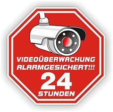 Video Überwachung Alarmgesichert Alarm Aufkleber Kameraüberwachung 20 Stk. VID1