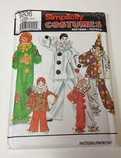 Simplicity 9806 Costume Pattern Clowns Circus Poirot Child Size 2-12
