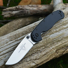 Ontario Rat Model 2 AUS8 Steel Black FRN Handle Folding Knife 8860