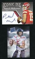 MAHOMES KC CHIEFS 2 CARD LOT TECH RATED ROOKIE & ICONIC INK ACEO  2017 NFL RC