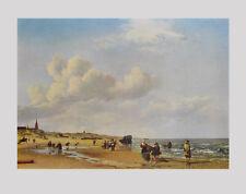 Adriaen van de velde son impresiones artísticas presión de luz la playa de scheveningen 65x85cm