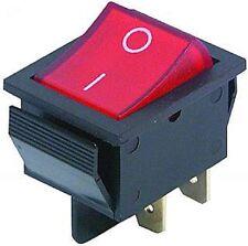 Wippenschalter, Geräteschalter, EIN/AUS, Steckdosenleiste beleuchtet, 230V, S13