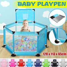 Baby Safety Playpen Play Center Kids Activity Yard Foldable Indoor Outdoor Pe