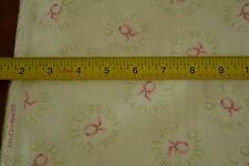 """By-the-Half-Yard, 45"""" Cream """"Quilt for the Cure"""" Quality-Cotton Hi-Fashion M4460"""