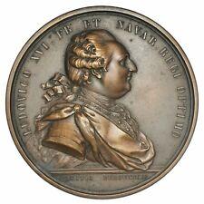LOUIS XVI Medaglia Le Canal Du Centre 1783 - Prova Uniface Epreuve Trial strike