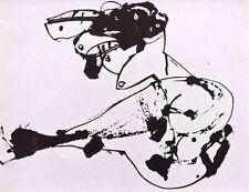 """Antonio Saura montado Vintage Impresión, Stedelijk 1964, desnuda, Art Brut 12 X 10"""" A57"""