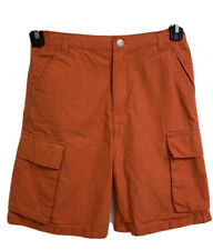 Kitestrings by Hartstrings orange cargo short young boys sz 14