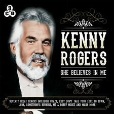3 CD BOX KENNY ROGERS SHE BELIEVES IN ME RUBY CRAZY ME & BOBBY MCGEE FOR GOOD