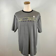 New NFL Pittsburgh Steelers Reversible Practice Jersey Style Stretch T Shirt XL