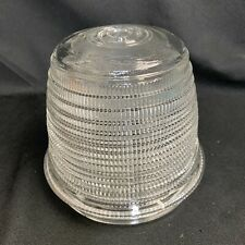 Vintage Holophane Clear Glass Industrial Globe Prismatic Light Shade