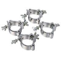 4pcs 2Inch Truss O Clamps Load 220lb Heavy Duty DJ Stage Lighting Hook Mount