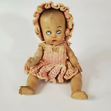 Old Haunted Baby Doll Gothic Oddity Old Clothes Eyes Open & Shut Dirty