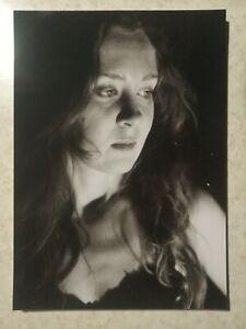 Model Pinup Girl Black Body Risque Female Original Paper 13*18cm