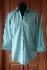 Pre-Owned BROOKS BROTHERS Green/White Business Shirt - Size US 8 (Fits AUS