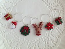 Christmas Wine Charms-Office Party Gift-Hostess Gift-Stocking Stuffer