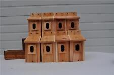 8 BLUEBIRD BIRD HOUSES NEST BOX CEDAR  PETERSON OVAL OPENING HANDMADE  FREE S/H