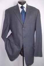 YSL, Yves Saint Laurent Solid Gray 3 Buttons Flannel Wool Blazer, Jacket 44 L