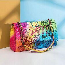 New Color Graffiti Printed Shoulder Big Bags Fashion Large Travel Bags Women