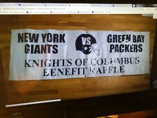 """New York Giants vs. Green Bay Packers""  NFL Super Bowl   24"" x 72"" Banner"