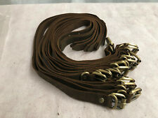 Thick Brown Distressed Leather Craft Brass Buckle Straps 20mm x 20/30/40/50/60cm