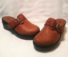 Crocs Cobbler Clogs Slip On Shoes Brown Leather Buckle Women's Size 8 W 15513