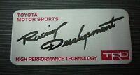 TRD Motorsport T Sport Badge Emblem Sticker Toyota MR2 Celica Yaris Starlet