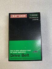 GENUINE OEM Craftsman Part No. 137078 Front Drive V-Belt Replacement 7133359