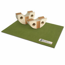 StewMac Deluxe Rock-n-Roller Neck Rest, Set of 2 with Bench Pad