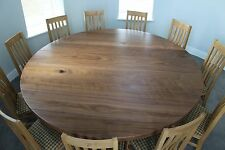 8,10,12, seater, Round American Black Walnut top Dining Table, Triple hoop base