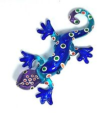 Glass Gecko Lizard Figurine Miniature Home Decor Collectibles Animals Reptiles M